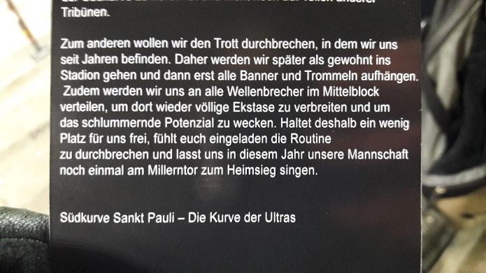 MagischerFC St. Pauli vs. VfL Bochum Dezember 2017 Flyer